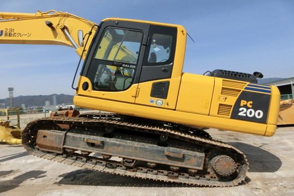 Komatsu PC200-8 Hydraulic Excavator Dimensions