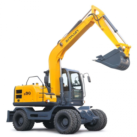 four wheel drive type mini wheel excavator