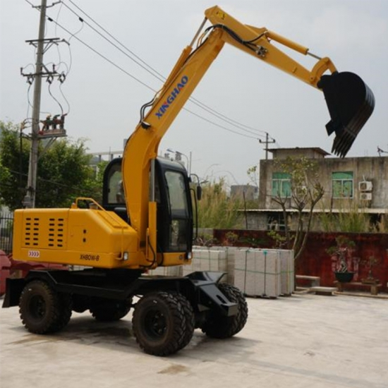 6.9tons mini wheel excavator